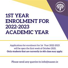 1st year Enrolment for 2022-2023 Academic Year