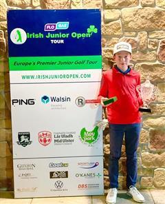 Patrick Tracy - Nett Champion U12 Irish Junior Open Autumn Tour